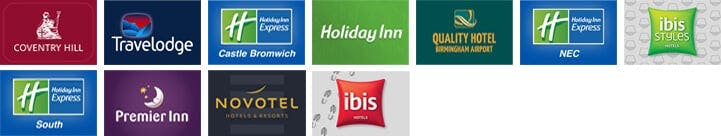 Birmingham Airport Hotels with Airparks