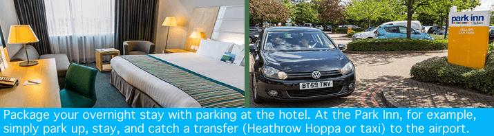 Heathrow Park Inn with parking