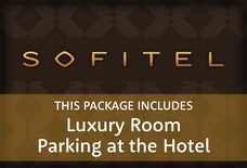 LGW Sofitel luxury room with parking at the hotel